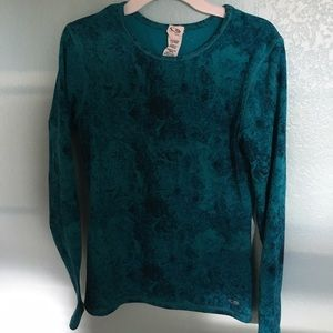 Blue tiedye-ish warm long sleeve shirt